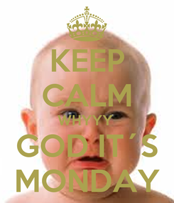 Poster: KEEP CALM WHYYY  GOD IT´S MONDAY