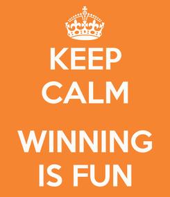 Poster: KEEP CALM  WINNING IS FUN