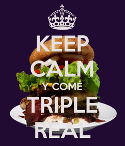 Poster: KEEP CALM Y COME TRIPLE REAL
