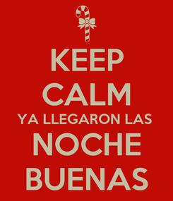 Poster: KEEP CALM YA LLEGARON LAS  NOCHE BUENAS