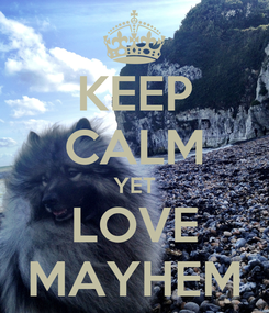 Poster: KEEP CALM YET LOVE MAYHEM
