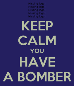 Poster: KEEP CALM YOU HAVE A BOMBER
