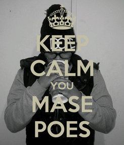 Poster: KEEP CALM YOU MASE POES