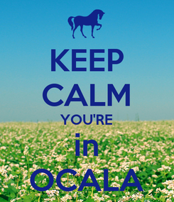 Poster: KEEP CALM YOU'RE in OCALA