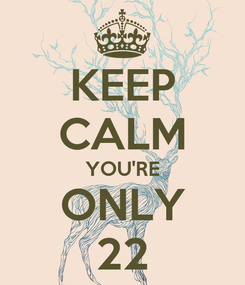 Poster: KEEP CALM YOU'RE ONLY 22