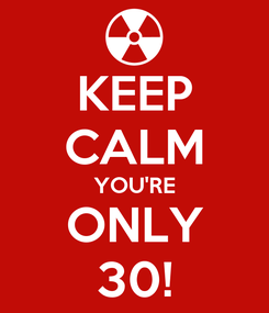 Poster: KEEP CALM YOU'RE ONLY 30!