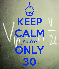 Poster: KEEP CALM You're ONLY 30
