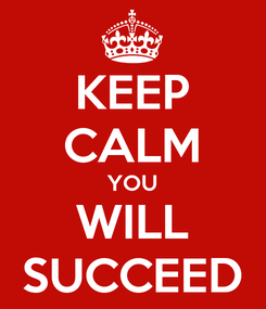 Poster: KEEP CALM YOU WILL SUCCEED