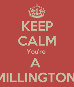 Poster: KEEP CALM You're  A  MILLINGTON