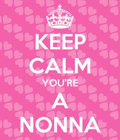 Poster: KEEP CALM YOU'RE A NONNA