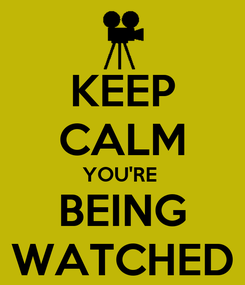 Poster: KEEP CALM YOU'RE  BEING WATCHED