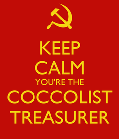 Poster: KEEP CALM YOU'RE THE COCCOLIST TREASURER
