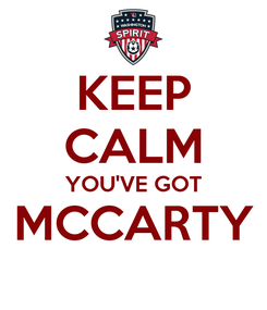 Poster: KEEP CALM YOU'VE GOT MCCARTY