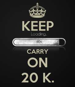 Poster: KEEP  CARRY ON 20 K.