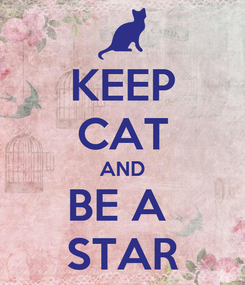 Poster: KEEP CAT AND BE A  STAR