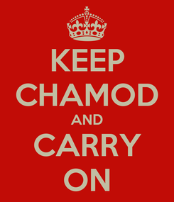Poster: KEEP CHAMOD AND CARRY ON