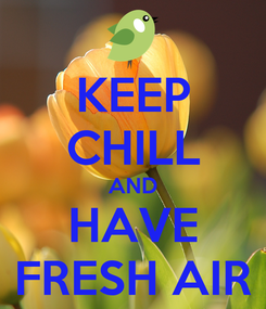 Poster: KEEP CHILL AND HAVE FRESH AIR