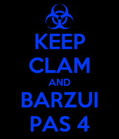 Poster: KEEP CLAM AND BARZUI PAS 4