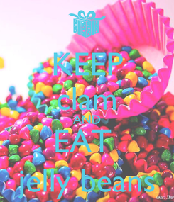 Poster: KEEP clam AND EAT  jelly beans