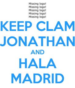 Poster: KEEP CLAM JONATHAN AND HALA MADRID