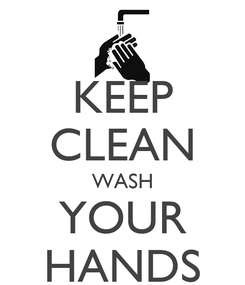 Poster: KEEP CLEAN WASH YOUR HANDS