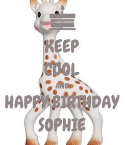 Poster: KEEP COOL AND HAPPY BIRTHDAY SOPHIE