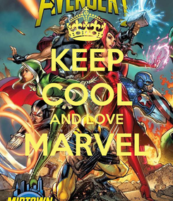 Poster: KEEP COOL AND LOVE MARVEL