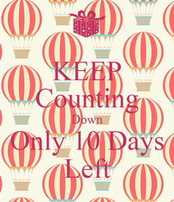 Poster: KEEP Counting Down Only 10 Days Left