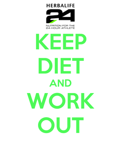 Poster: KEEP DIET AND WORK OUT