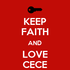 Poster: KEEP FAITH AND LOVE CECE