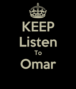 Poster: KEEP Listen To Omar