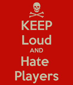 Poster: KEEP Loud AND Hate  Players