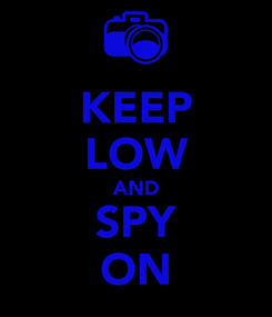 Poster: KEEP LOW AND SPY ON