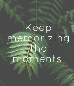 Poster:  Keep  memorizing  the  moments