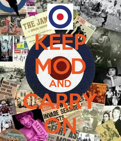 Poster: KEEP MOD AND CARRY ON