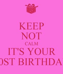 Poster: KEEP NOT CALM IT'S YOUR 30ST BIRTHDAY