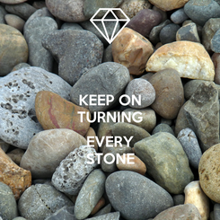 Poster: KEEP ON TURNING  EVERY STONE