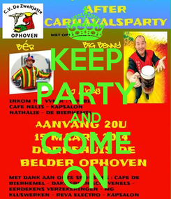 Poster: KEEP PARTY AND COME ON