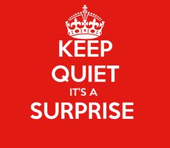 Poster: KEEP QUIET IT'S A  SURPRISE