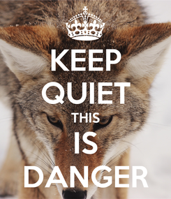 Poster: KEEP QUIET THIS IS DANGER