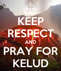 Poster: KEEP RESPECT AND PRAY FOR KELUD
