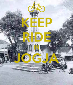 Poster: KEEP RIDE IN JOGJA