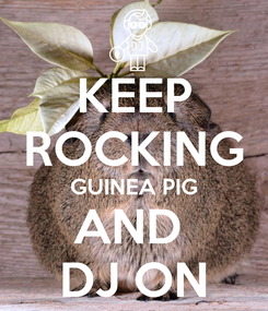 Poster: KEEP ROCKING GUINEA PIG AND  DJ ON