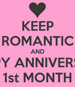 Poster: KEEP ROMANTIC AND HAPPY ANNIVERSARY 1st MONTH