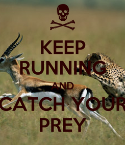 Poster: KEEP RUNNING AND CATCH YOUR PREY