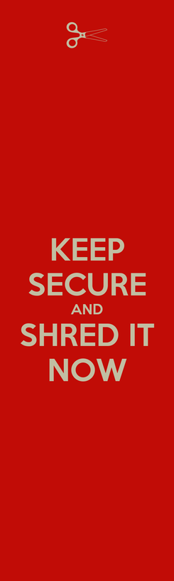 Poster: KEEP SECURE AND SHRED IT NOW