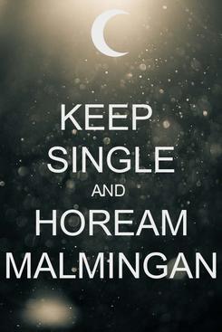 Poster: KEEP  SINGLE AND  HOREAM MALMINGAN