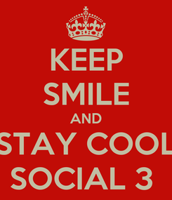 Poster: KEEP SMILE AND STAY COOL SOCIAL 3