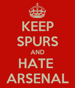 Poster: KEEP SPURS AND HATE  ARSENAL