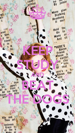 Poster: KEEP STUDY AND BEAT THE DOGS